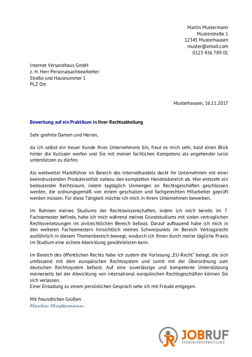 kostenfreie vorlagen im pdf format - Bewerbung Fur Einen Praktikumsplatz